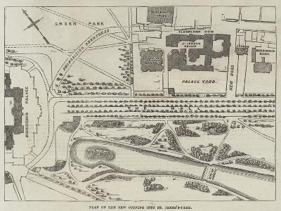 Plan of the New Opening into St James's-Park--Giclee Print