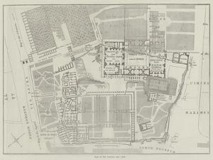 Plan of the Palatine Hill, Rome