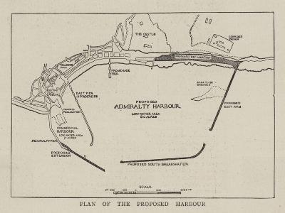Plan of the Proposed Harbour--Giclee Print