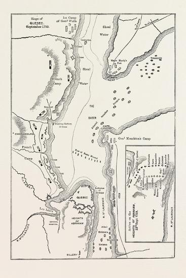 Plan of the Siege of Quebec, Canada, 1870s--Giclee Print