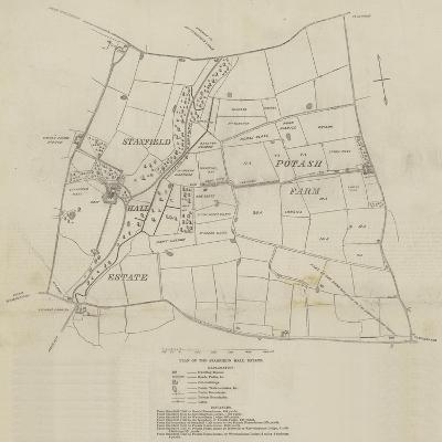 Plan of the Stanfield Hall Estate--Giclee Print
