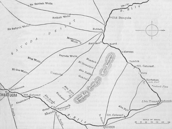 'Plan of the Theatre of War in the Second Soudan Campaign', c1881-85-Unknown-Giclee Print