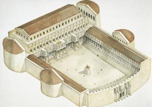 Plan of Trajan's Forum