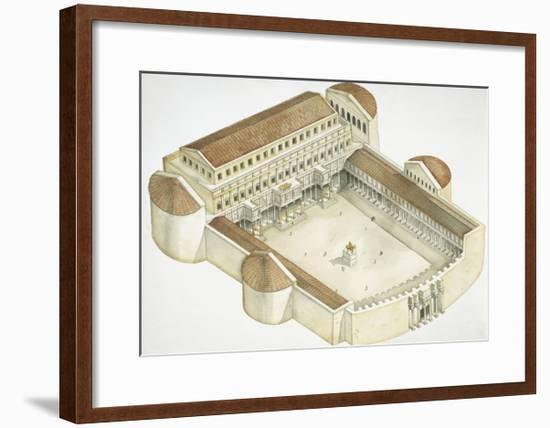 Plan of Trajan's Forum--Framed Giclee Print