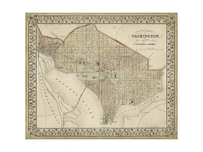 Plan of Washington, D.C.-Mitchell-Art Print