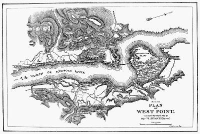 Plan of West Point, 1780--Giclee Print