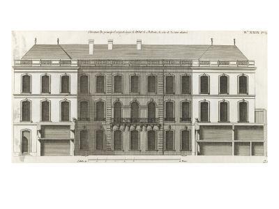Planche 136 :  Elévation du principal corps de logis du côté de la cour de -Jacques-Fran?ois Blondel-Giclee Print