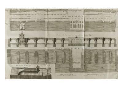 Planche 160 : Plan , ?l?vation et ?l?vation du Pont-Neuf ? Paris-Pate-Giclee Print