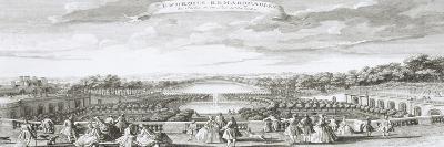 Planche 29: Vue de l'Orangerie de Versailles vers 1730 (endroits remarquables du jardin et du parc-Jacques Rigaud-Giclee Print