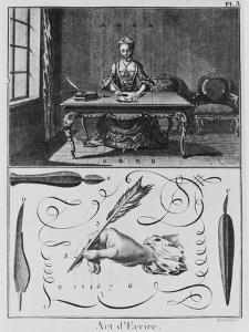 """Planche 3 de L'Encyclopédie ; """"L'art d'écrire"""""""