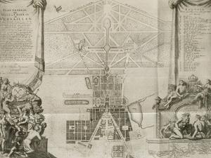 Planche 84 A: Plan général de la ville, château, jardins et grand parc vers 1690 (dressé par
