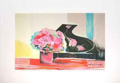 Planche Album I (avec Piano)-Claude Hemeret-Limited Edition