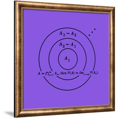 Planche mathématique 08-Bernar Venet-Framed Limited Edition