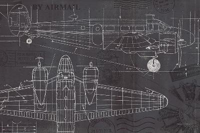 Plane Blueprint I-Marco Fabiano-Art Print