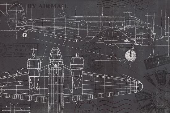 Plane blueprint i art print by marco fabiano the new art plane blueprint iby marco fabiano malvernweather Images