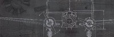 Plane Blueprint IV-Marco Fabiano-Art Print