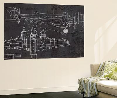 Plane Blueprint-Marco Fabiano-Wall Mural