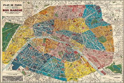 Plane de Paris-Stephanie Monahan-Giclee Print