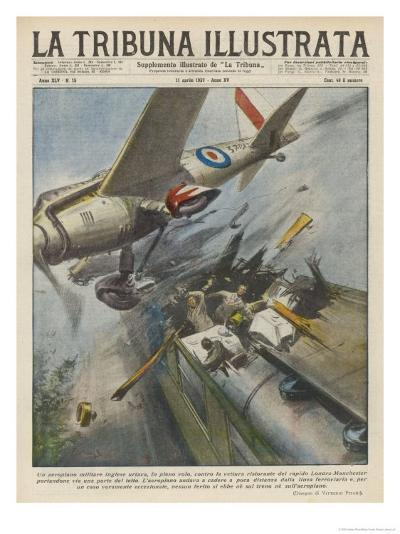 Plane Hits Train-Vittorio Pisani-Giclee Print