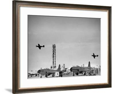 Planes Participating in the Cleveland National Air Race--Framed Photographic Print