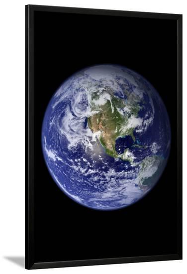 Planet Earth from Space (North America)--Lamina Framed Art Print
