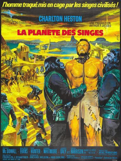 Planet of the Apes, French Movie Poster, 1968--Art Print