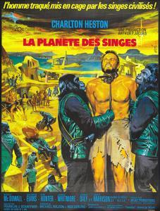 Planet of the Apes, (French Poster Art), Charlton Heston, 1968