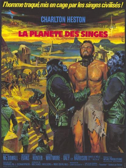 Planet of the Apes, German Movie Poster, 1968--Art Print