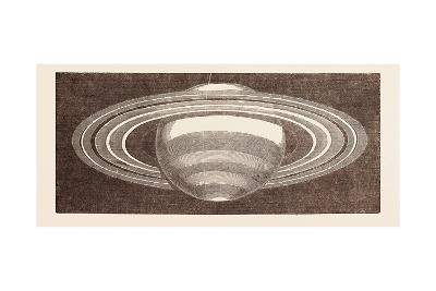 Planet Saturn as Seen in November--Giclee Print