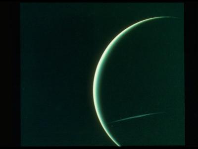 Planet Uranus Taken from Voyager 2 Spacecraft