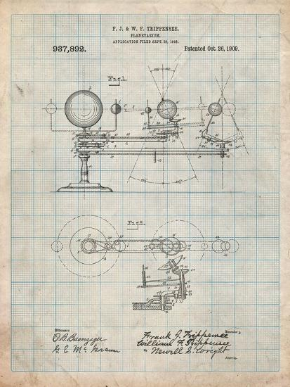 Planetarium 1909 Patent-Cole Borders-Art Print