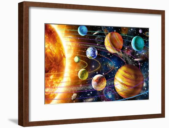Planetary System-Adrian Chesterman-Framed Art Print