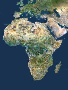 Africa, Satellite Image by PLANETOBSERVER