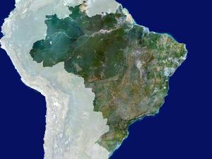 Brazil, Satellite Image by PLANETOBSERVER
