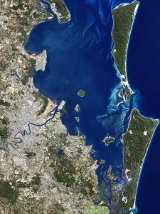 Brisbane, Australia, Satellite Image by PLANETOBSERVER