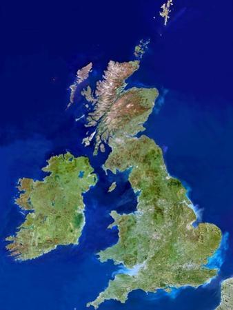 British Isles, Satellite Image by PLANETOBSERVER