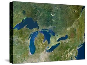 Great Lakes, Satellite Image by PLANETOBSERVER