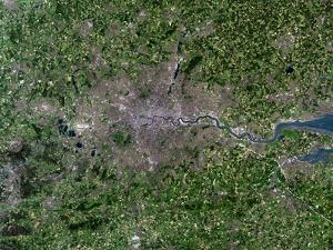 Greater London, Satellite Image by PLANETOBSERVER