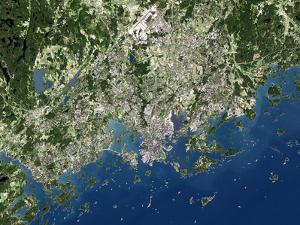 Helsinki, Satellite Image by PLANETOBSERVER