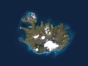 Iceland, Satellite Image by PLANETOBSERVER
