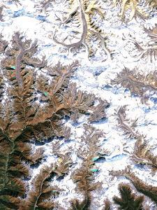 Mount Everest, Satellite Image by PLANETOBSERVER