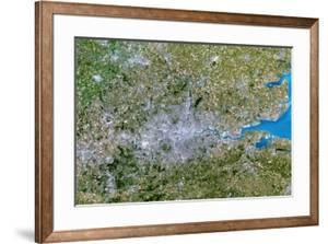 Satellite Image of Greater London, UK by PLANETOBSERVER