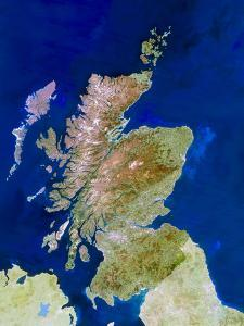 Satellite Image of Scotland by PLANETOBSERVER