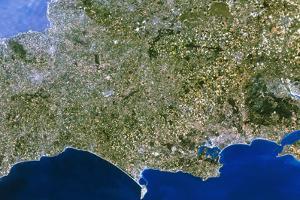 Satellite Image of Southwest England by PLANETOBSERVER