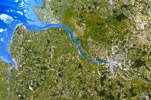 True-colour Satellite Image of Hamburg, Germany by PLANETOBSERVER