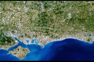 True-colour Satellite Image of Hampshire by PLANETOBSERVER