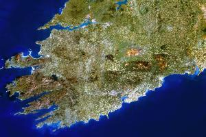True-colour Satellite Image of Munster, Ireland by PLANETOBSERVER