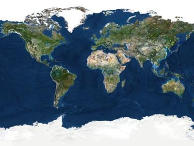 Whole Earth, Satellite Image by PLANETOBSERVER