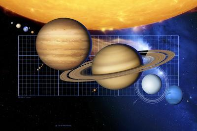 Planets And Sun with Scale-Detlev Van Ravenswaay-Photographic Print