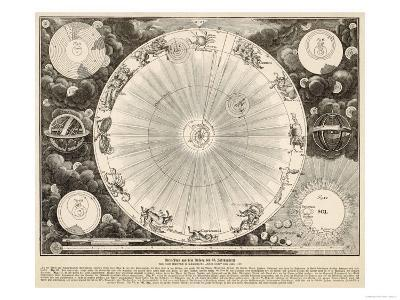 Planets and Zodiac--Giclee Print